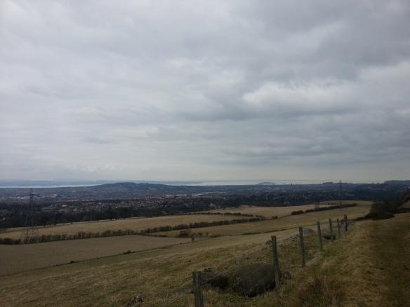 pentlands view towards edinburgh